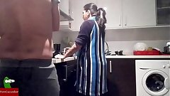 British Indian Wife Fighting In Kitchen Turn In Fucking